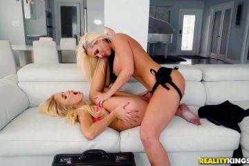 Super wellustig moeder penetreert onrijpe blondine