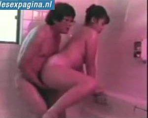 Asia stel hebben geweldige sex in bad