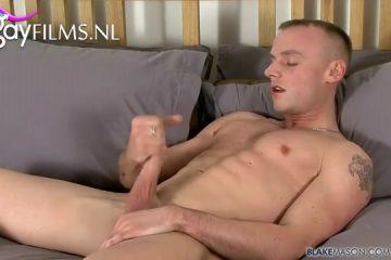 Porno auditie van verrukkelijk homo schoffie