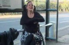 Ze mag dan wel in een rolstoel zitten